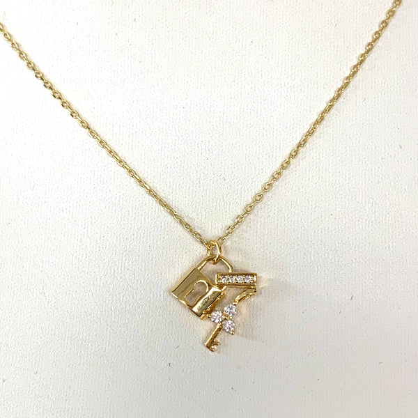 Sterling Silver & Gold-Filled Dainty Charm Necklace