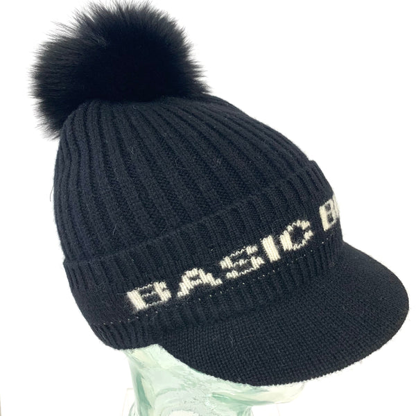 BASIC BITCH Knit Fur Pom Cap