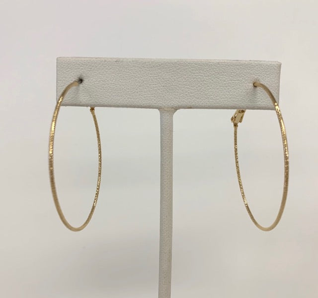 Thin Etched Hoops