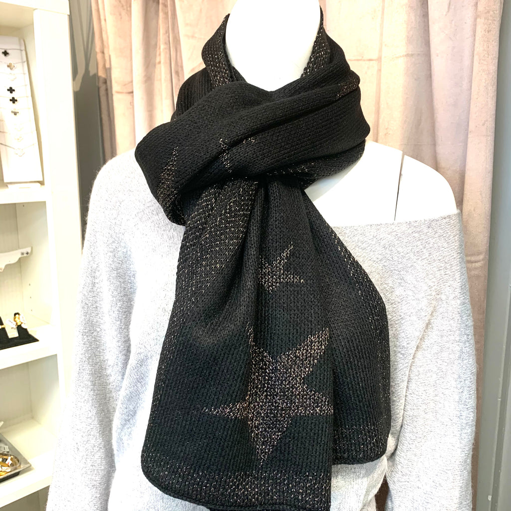 Harley Black and Grey Star Scarf