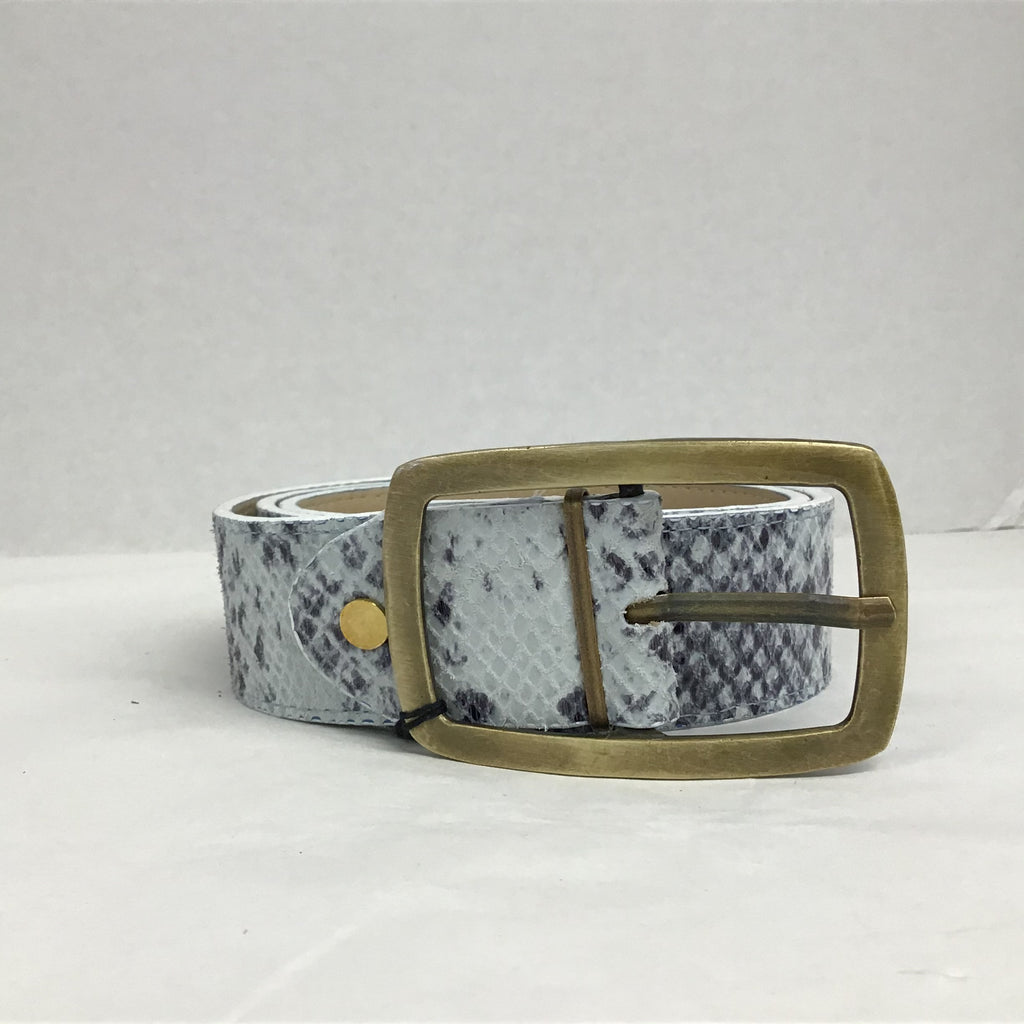 Leather Python Animal Print Belt