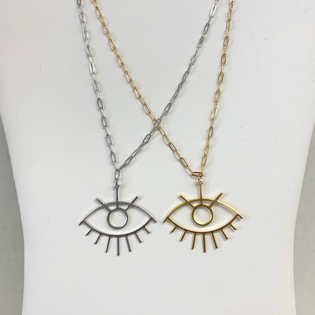 Paperclip Eye Necklace