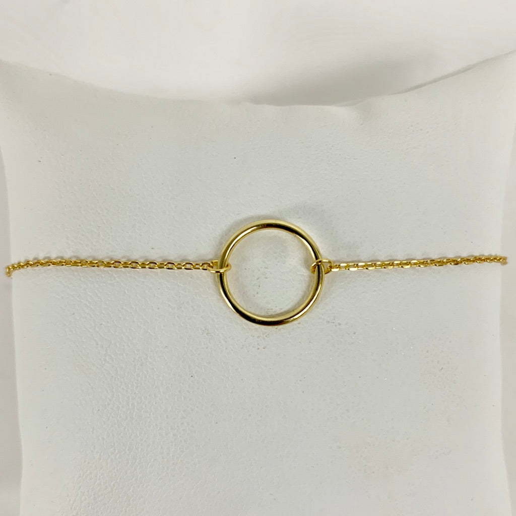 Thin Chain Bracelet with Circle