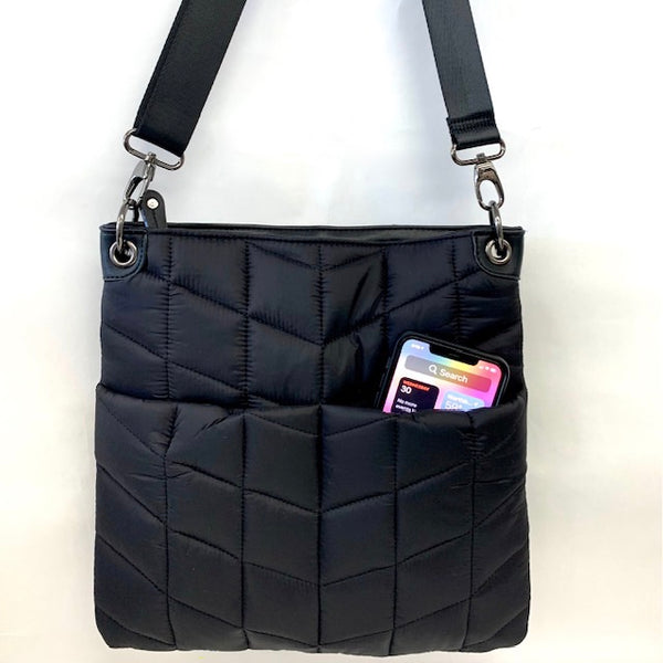 Quilted Nylon Crossbody Puffer (New)