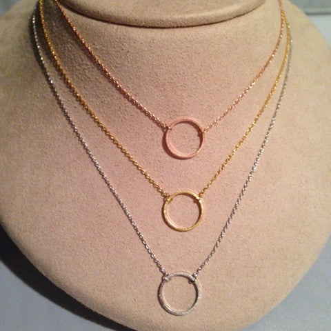 Small Open Circle Necklace