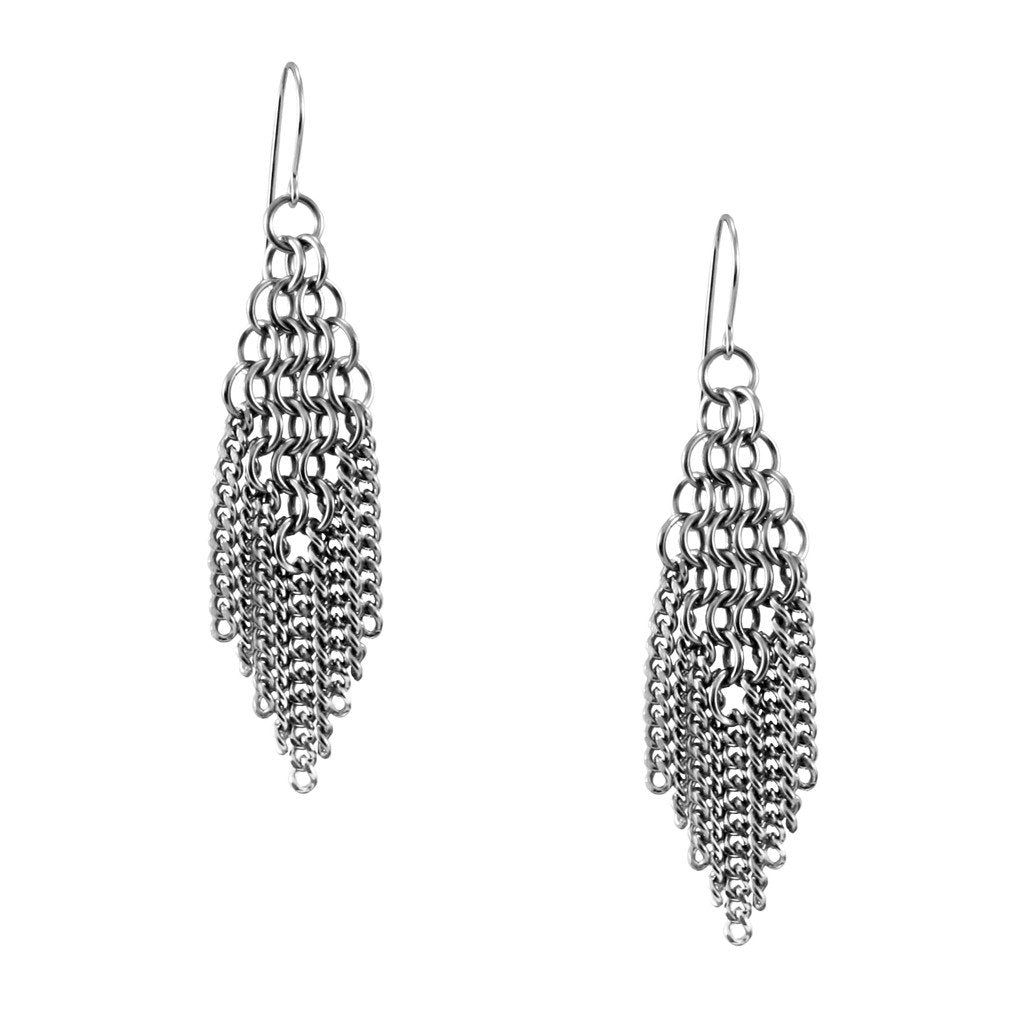 Slinky Diamond Shape Fringe Earring
