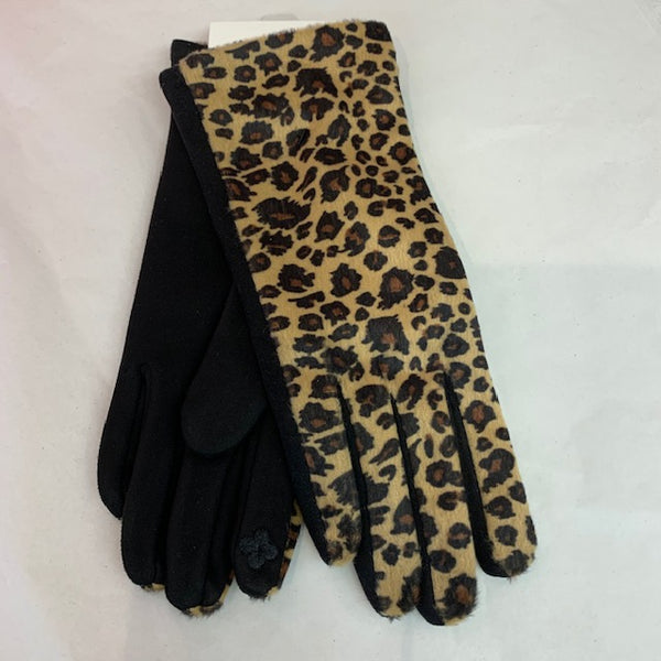 Brushed Leopard Gloves