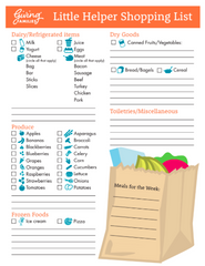 Printable Little Helper Grocery List