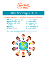 Printable Litter Scavenger Hunt
