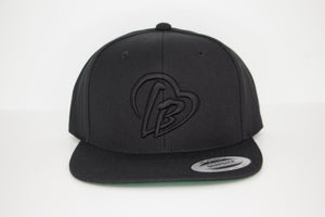 All Black Long Beach Hat
