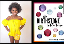 Load image into Gallery viewer, Birthstone Sunsuit