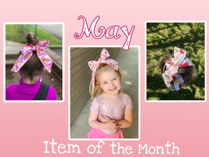 May Item of the Month - Grab Bag Scarf Scrunchies