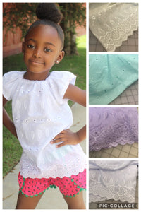 Eyelet Top - OTS or Flutter - Choose Color