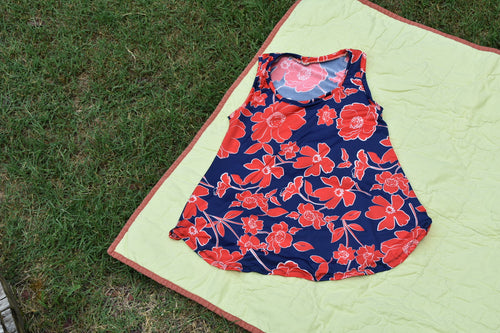 Poppy Power Ladies Flowy Tank
