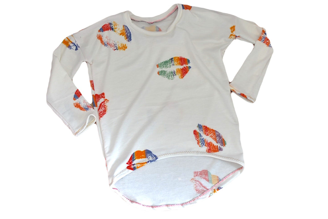 Girls Pop Art Lip Tunic