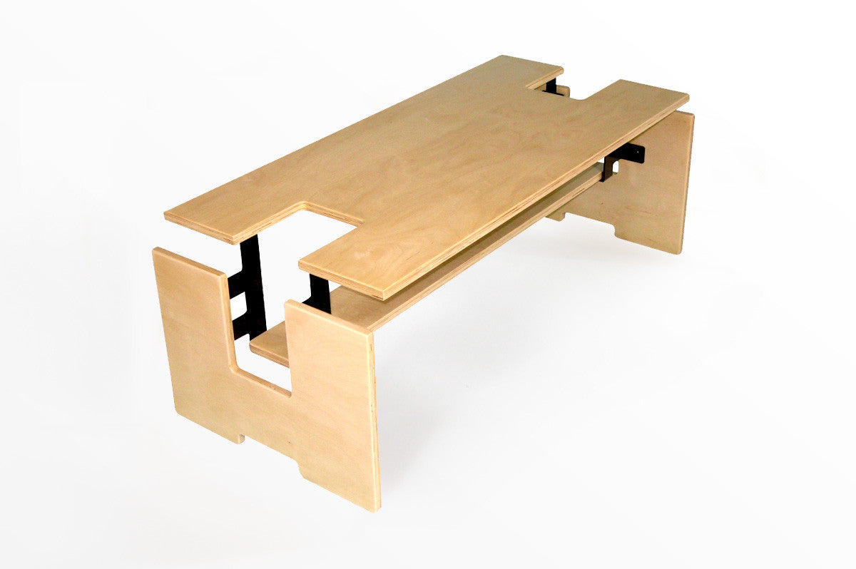Exploded Coffee Table w/Shelf
