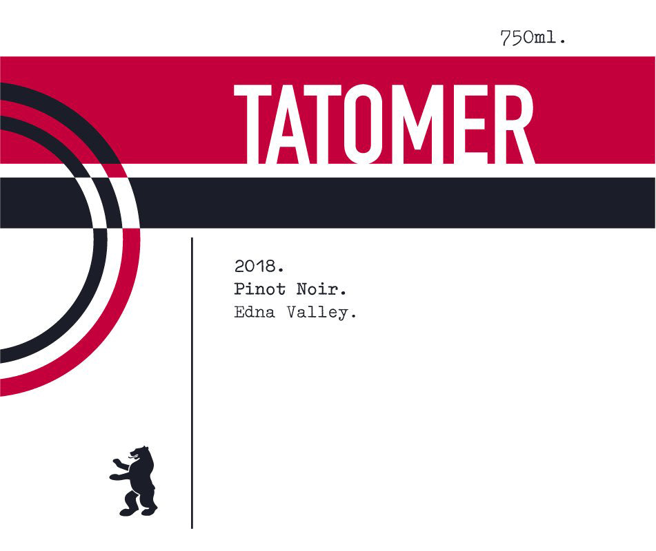 Tatomer Pinot Noir, Edna Valley 2018