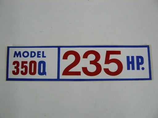 Chris Craft engine parts 350Q decal 16.92-08622