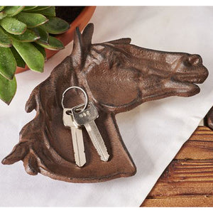 CAST IRON HORSE HEAD DESIGN TRAY/WALL PLAQUE