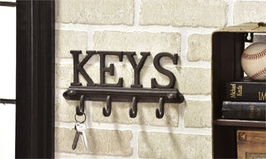 "CAST IRON ""KEYS"" WALL HOOK"