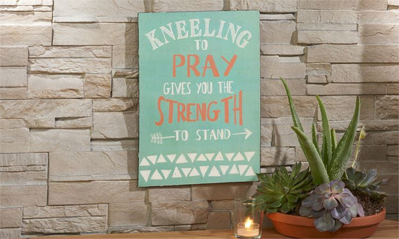 STRENGTH METAL WALL SIGN