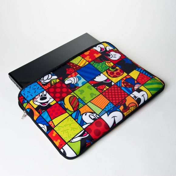 ROMERO BRITTO MICKEY MOUSE LAPTOP SLEEVE 17 INCH
