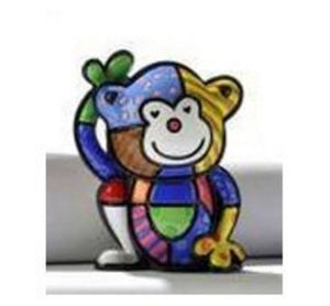 "ROMERO BRITTO MINI 1ST EDITION MONKEY ""CHEEKY"""
