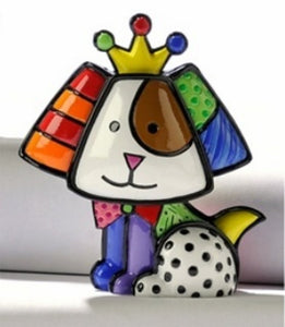 "ROMERO BRITTO MINI 1ST EDITION DOG ""ROYALTY BEAGLE """