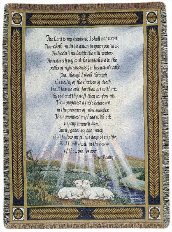 23rd PSALMS TAPESTRY THROW