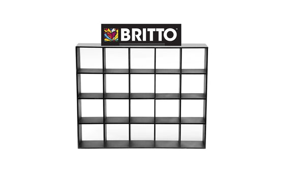 ROMERO BRITTO ACRYLIC DISPLAYER WITH HEADER FOR MINI'S