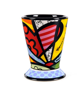 "*New* Romero Britto Ceramic ""A New Day"" Heart Design Cup"