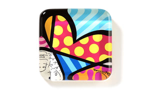 ROMERO BRITTO GLASS PAPERWEIGHT- HEART