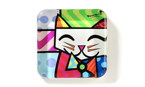 ROMERO BRITTO GLASS PAPERWEIGHT- CAT