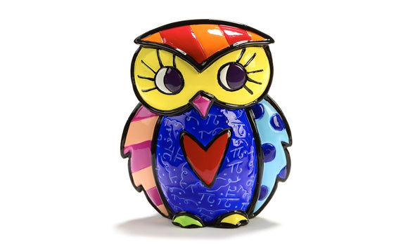 ROMERO BRITTO MINI FIGURINE- OWL