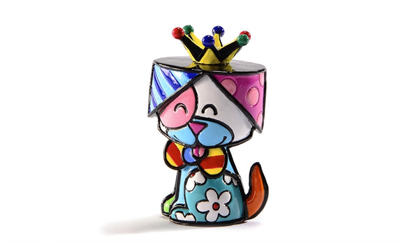 ROMERO BRITTO MINI FIGURINE- DOG