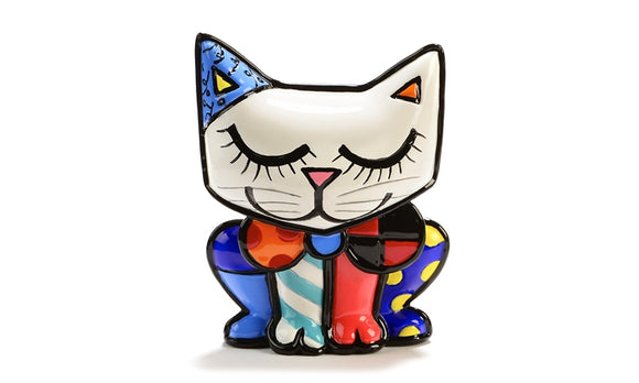 ROMERO BRITTO MINI FIGURINE- CAT