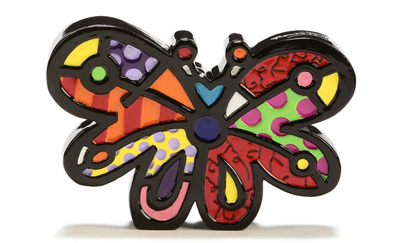 ROMERO BRITTO MINI FIGURINE- BUTTERFLY
