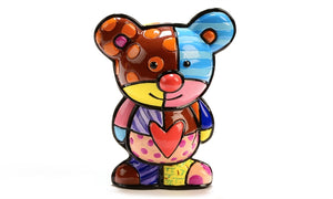 ROMERO BRITTO MINI FIGURINE- TEDDY BEAR