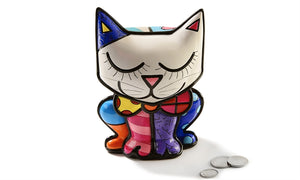 ROMERO BRITTO CAT DESIGN MONEY BANK