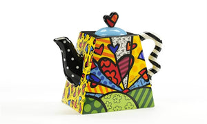 "ROMERO BRITTO ""A NEW DAY"" SQUARE TEAPOT"