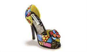 Romero Britto Miniature Shoe Figurine- Stiletto