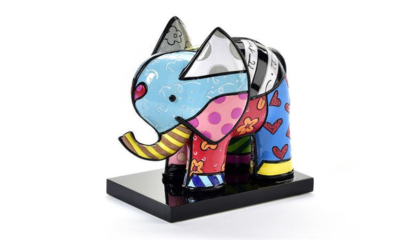 ROMERO BRITTO LIMITED EDITION 3D ELEPHANT FIGURINE ON BASE