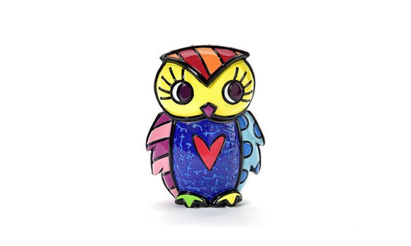 ROMERO BRITTO 3D OWL TRINKET BOX