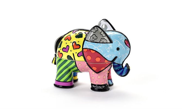 ROMERO BRITTO 3D ELEPHANT TRINKET BOX