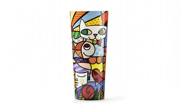 Romero Britto Garden Design Glass Vase