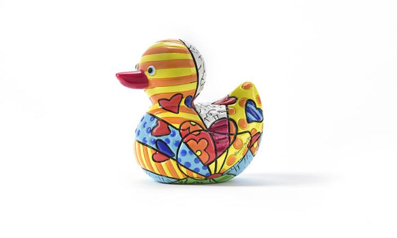 ROMERO BRITTO MINIATURE DUCK FIGURINE-