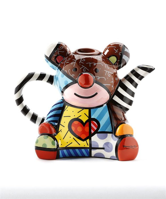 Romero Britto Ceramic Teddy Bear Teapot