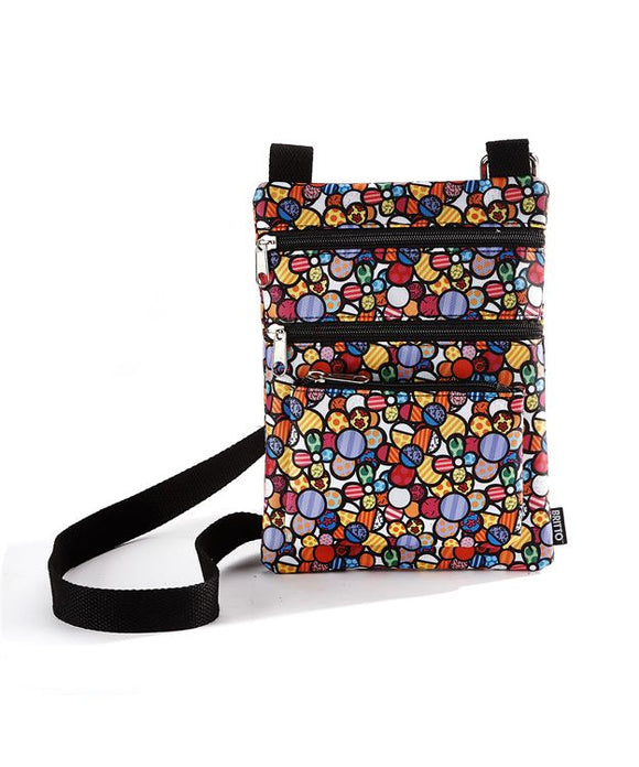 Romero Britto CrossBody Bag/Purse- Flowers Design