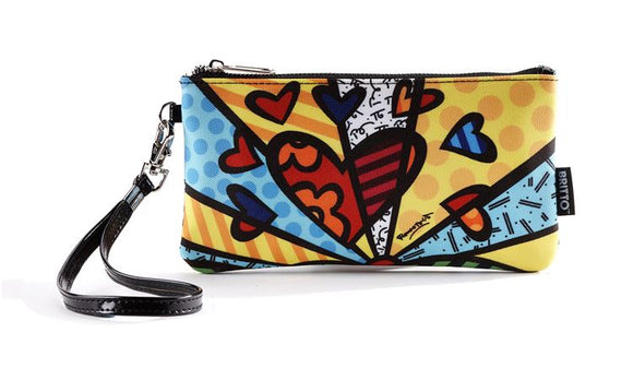 Romero Britto Wristlet Clutch/Wristlet- A New Day Design