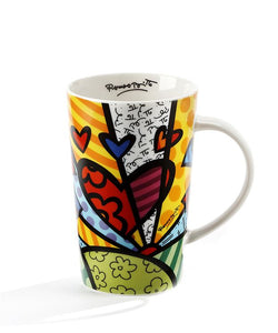 Romero Britto Bone China Mug- A New Day Design